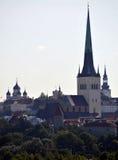 Église Tallinn Estonie de rue Olaf Photos stock