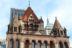Église Trinity de Boston, Etats-Unis Images libres de droits