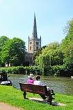 Église Trinity sainte, Stratford-sur-Avon Photographie stock libre de droits