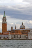Église Venise de rue Giorgio Maggiore Photo stock