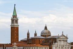 Église Venise de rue Giorgio Maggiore Image libre de droits