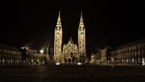 Église votive dans Szeged image libre de droits