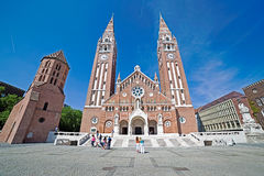 Église votive dans Szeged, Hongrie 4 Images libres de droits