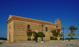 Églises d'Agios Nikolaos dans Zakintos Images stock