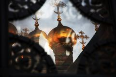Églises de Terem de Moscou Kremlin Site de patrimoine mondial de l'UNESCO images stock