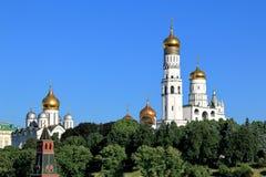 Églises orthodoxes de Moscou Kremlin photographie stock libre de droits