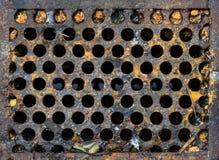 Égout sanitaire de trou d'homme Photo libre de droits