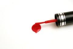 Égouttement de vernis à ongles Photographie stock libre de droits