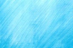 Égouttements bleus de tache d'aquarelle lumineuse Illustration abstraite sur un fond blanc Image libre de droits