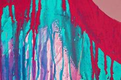 Égouttements colorés de peinture Photos stock