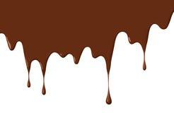 Égouttements de chocolat illustration libre de droits