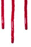Égouttements de sang suintant photo stock