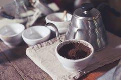 Égoutture de café Images libres de droits