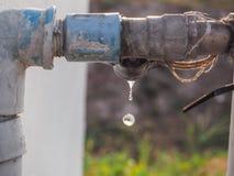 Égoutture de l'eau Images stock