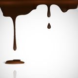 Égoutture fondue de chocolat. Image stock
