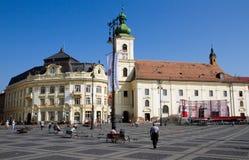 Égua de Sibiu-Piata Foto de Stock Royalty Free