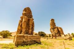 Égypte Louxor Les colosses de Memnon photographie stock