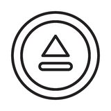 Éjectez la ligne mince icône de vecteur illustration libre de droits