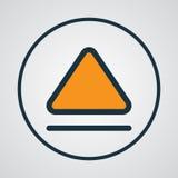 Éjectez le symbole coloré d'ensemble Élément supérieur d'isolement par qualité de la meilleure qualité dans le style à la mode illustration stock