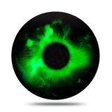 Élève magique d'isolement d'oeil vert d'imagination abstraite Photos stock