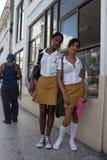 Élèves au Cuba Photographie stock