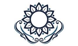 Élégance Logo Design Template de fleur Photo stock
