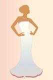 élégant de mariée d'isolement Photo libre de droits