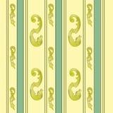 Or élégant et fond vert Photo stock