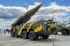Élém. opérationnel-tactiques autopropulsés de missile du lanceur 9П117 Photographie stock