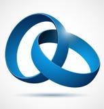 Élément abstrait bleu de conception du vecteur 3d Photos libres de droits