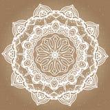 Élément abstrait de blanc de noir de conception Mandala rond dans le vecteur Calibre graphique pour votre conception Modèle circu Photos libres de droits