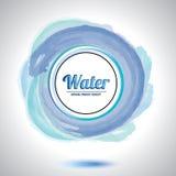 Élément abstrait de cercle de l'eau. Photo stock