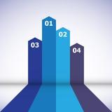 Élément abstrait de conception avec les lignes bleues Images stock