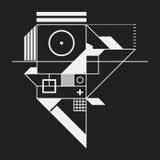 Élément abstrait de conception dans le style de constructivisme illustration stock