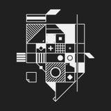 Élément abstrait de conception dans le style de constructivisme illustration libre de droits