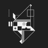 Élément abstrait de conception dans le style de constructivisme illustration de vecteur