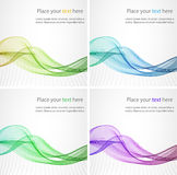 Élément abstrait de conception de vague de couleur Images libres de droits