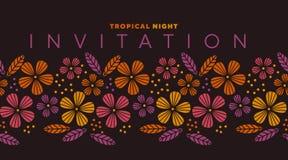 Élément abstrait de conception de fleur de style de safari Image libre de droits