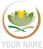 Élément abstrait de fleur de lotus en cercle Images libres de droits