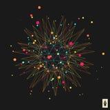 Élément abstrait de la conception 3d, emblème illustration stock