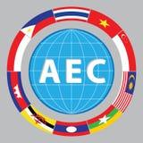 Élément asiatique du sud-est graphique de conception de l'AEC ou d'ASEAN ou d'infos Photographie stock