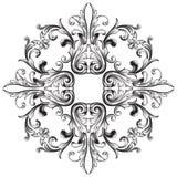 Élément baroque de décoration d'ornement Photo stock