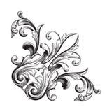 Élément baroque de décoration d'ornement Photographie stock