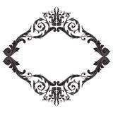 Élément baroque de décoration d'ornement Image libre de droits