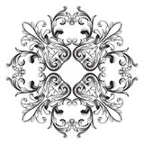 Élément baroque de décoration d'ornement Photos libres de droits
