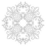 Élément baroque de décoration d'ornement Images stock