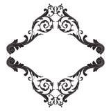Élément baroque de décoration d'ornement Photos stock