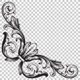Élément baroque faisant le coin de décoration d'ornement Image libre de droits