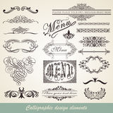 Élément calligraphique Photos libres de droits