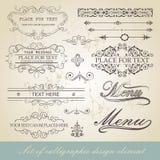 Élément calligraphique de conception de menu Images libres de droits